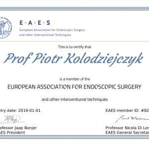 EAES certyfikat